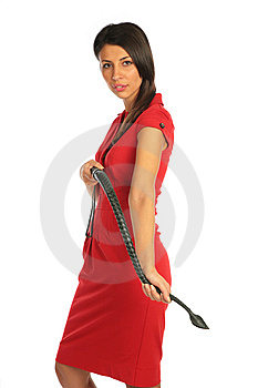 Girl Gets On The Hands A Whip Royalty Free Stock Photo - Image: 7891435