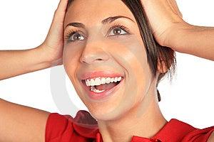 Glad Woman. Close- Up. Royalty Free Stock Image - Image: 7891476