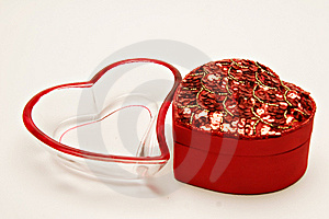 Heart Shape Containers Royalty Free Stock Photos - Image: 7891898
