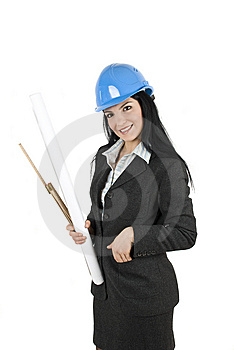 Woman engineer Stock Image