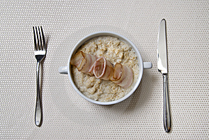 Breakfast With Oat And Bacon Royalty Free Stock Images - Image: 7893369