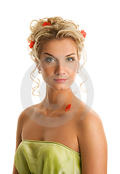 Woman With Fresh Spring Flowers Royalty Free Stock Photography - Image: 7894007