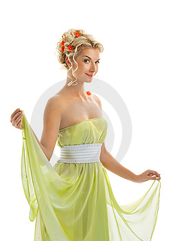 Woman With Fresh Spring Flowers Stock Image - Image: 7894101