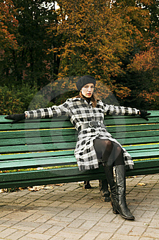 Young Woman In Autumnal Park Royalty Free Stock Images - Image: 7894169
