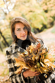 Young Woman In Autumnal Park Stock Photos - Image: 7894173