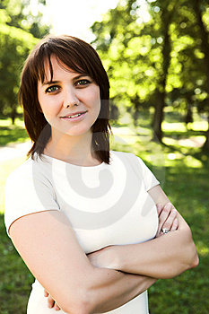 Young Woman In Park Royalty Free Stock Images - Image: 7894239