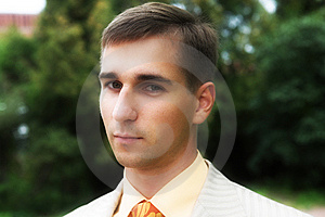 Handsome Man In Park Stock Photo - Image: 7894380