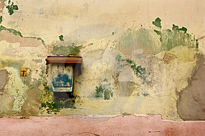 Rusty Mailbox On Old Wall Royalty Free Stock Image - Image: 7894726
