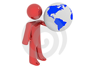 Person With Earth Royalty Free Stock Photo - Image: 7894925
