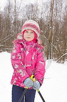 Girl On Cross-country Ski Stock Photo - Image: 7895020