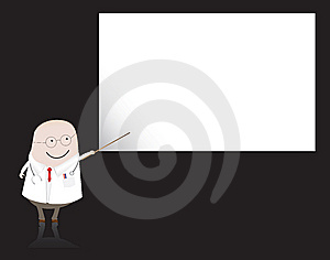 Doctor/ Doctor Pointing At Blank Board Stock Image - Image: 7895701