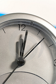 Closeup Of A Clock Face Stock Images - Image: 7896034