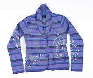 Stripy  Jacket Sweater Royalty Free Stock Photos - Image: 7898938