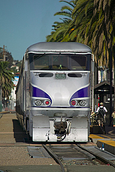 Train At A Station Stock Images - Image: 7899414
