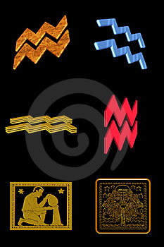 Aquarius Icon Set Royalty Free Stock Photography - Image: 7899617