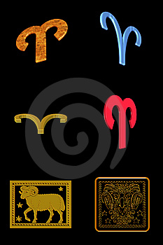 Aries Icon Set Royalty Free Stock Photo - Image: 7899635