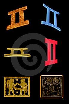 Geminisymbolsset Royaltyfri Bild - Bild: 7899676