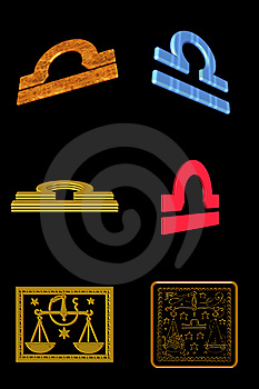 Libra Icon Set Royalty Free Stock Images - Image: 7899759