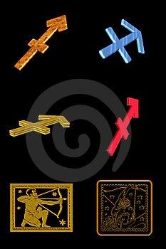 Sagittarius Icon Set Royalty Free Stock Photos - Image: 7899788