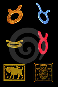 Taurus Icon Set Royalty Free Stock Image - Image: 7899806