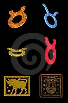 Taurus Icon Set Royalty Free Stock Image - Image: 7899806