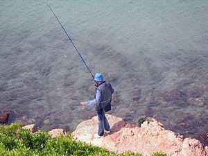 Alone Man Fishing Stock Photos - Image: 796133