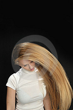 Sexy Blond Long Hair Teen Age Girl Royalty Free Stock Image - Image: 7901756