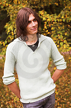 Handsome Young Man During His Walk In A Park Stock Photos - Image: 7902973