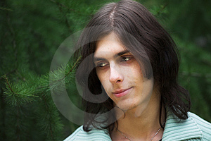 Handsome Young Man During His Walk In A Park Royalty Free Stock Photography - Image: 7903107