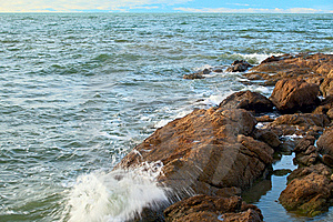 Stones On Cold Water Stock Photography - Image: 7903472
