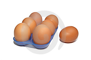 Eggs In The Blue Container. Royalty Free Stock Photo - Image: 7906335