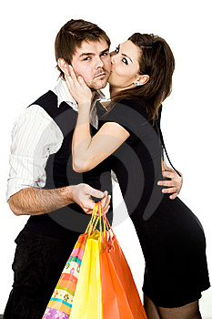 Pair With Bags Royalty Free Stock Images - Image: 7906829