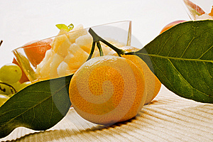 Two Mandarins With Leaves Royalty Free Stock Photo - Image: 7908175