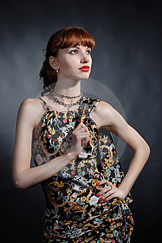 Atrractive Girl Posing In Studio Royalty Free Stock Photography - Image: 7908657