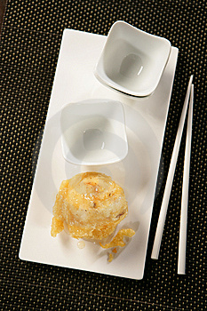 Deep Fried Pear And Chopsticks Stock Images - Image: 7908934