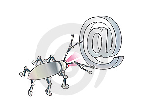 A Spy Virus Breaks Up E-mail. Conception Stock Image - Image: 7909031