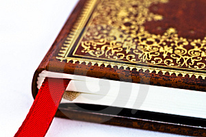 Red book with ornaments