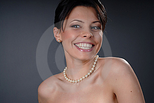 Smiling Glamour Girl Stock Image - Image: 7910081