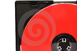 Part Of Red CD In Box Stock Images - Image: 7910174