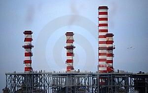 Industrial Smokestacks Stock Image - Image: 7911261