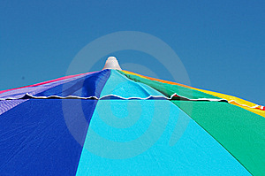 Bright Colorful Beach Umbrella Stock Photography - Image: 7912972