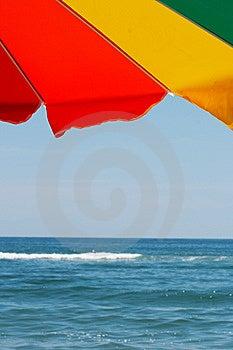 Bright Colorful Beach Umbrella Royalty Free Stock Photos - Image: 7912988