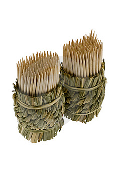 Bamboo Toothpicks Royalty Free Stock Photo - Image: 7913015