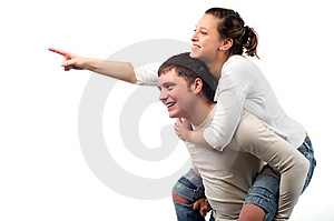 Happy Man And Girl Royalty Free Stock Image - Image: 7915126