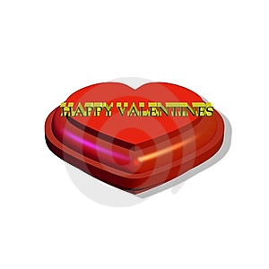 Valentines Heart  In 3d Royalty Free Stock Images - Image: 7915279