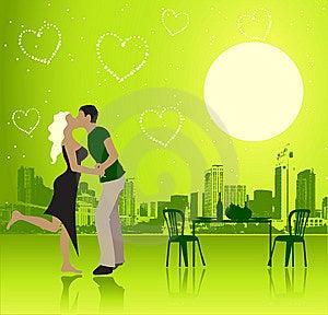 Валентайн места дня пар урбанское Стоковое Изображение RF - изображение: 7915346