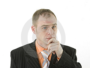 A Young Adult Male Portrait. The Guy Who Thought Stock Photos - Image: 7916633
