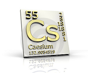 Caesium Form Periodic Table Of Elements Stock Photos - Image: 7917533