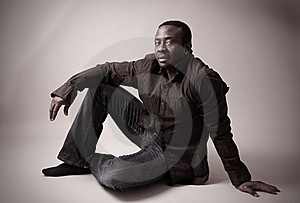 Man In Studio Royalty Free Stock Photos - Image: 7918168