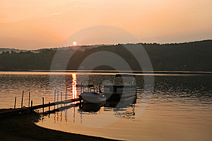 Sunset On Brant Lake In Adirondack Royalty Free Stock Photo - Image: 7920475